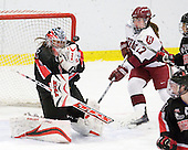 Leah Sulyma (NU - 1), Kaitlin Spurling (Harvard - 17) - The Harvard University Crimson defeated the Northeastern University Huskies 1-0 to win the 2010 Beanpot on Tuesday, February 9, 2010, at the Bright Hockey Center in Cambridge, Massachusetts.