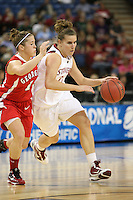 SACRAMENTO, CA - MARCH 27:  Jeanette Pohlen of the Stanford Cardinal during Stanford's 73-36 win over Georgia in the third round of the NCAA Women's Basketball Championships on March 27, 2010 at Arco Arena in Sacramento, California.