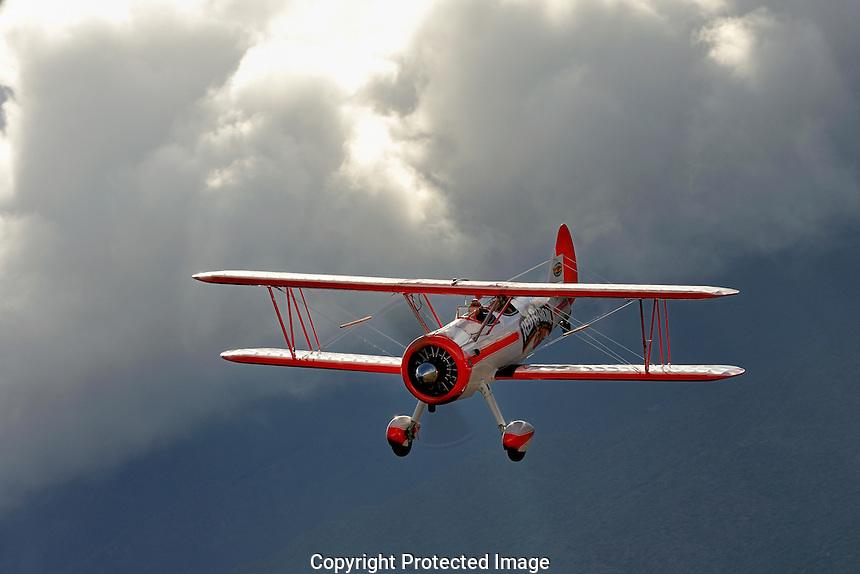 Boeing Stearman & Clouds