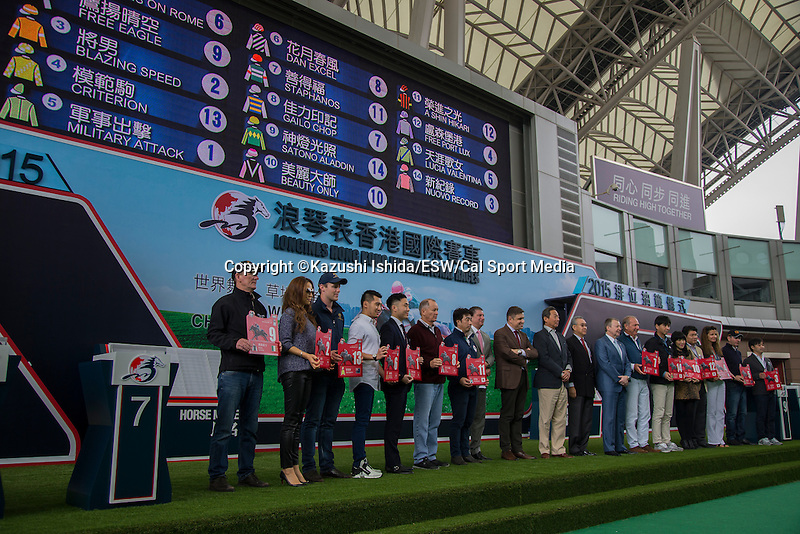 DEC 10,2015: LONGINES Hong Kong International Races Barrier Draw (Hong Kong Cup)at Sha Tin in New Territories,Hong Kong. Kazushi Ishida/ESW/CSM