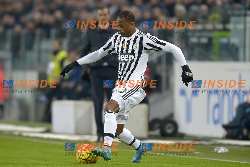 Patrice Evra Juventus,<br /> Torino 27-01-2016, Juventus Stadium, Football Calcio 2015/2016 Coppa Italia, Juventus - Inter, Foto Filippo Alfero/Insidefoto