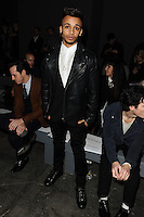Aston Merrigold at front row for the TOPMAN Designs show as part of London Collections Men AW14, London.  06/01/2014 Picture by: Steve Vas / Featureflash
