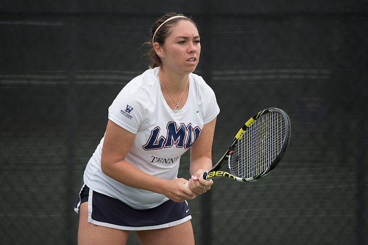April 22, 2015; San Diego, CA, USA; Loyola Marymount Lions tennis player Jessica Perez during the WCC Tennis Championships at Barnes Tennis Center.
