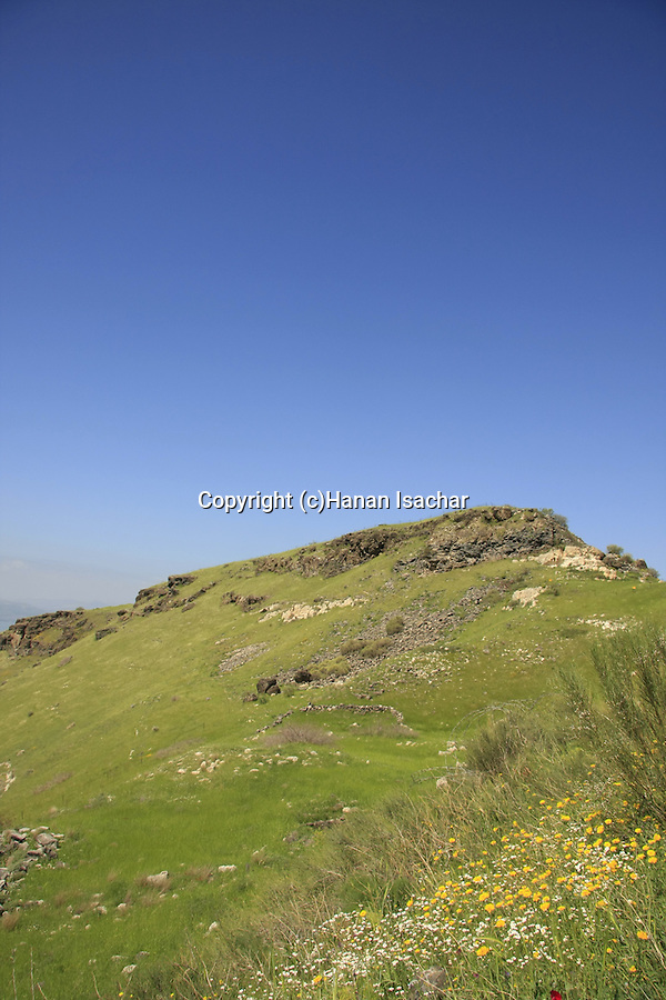 Golan Heights. Mount Susita national park