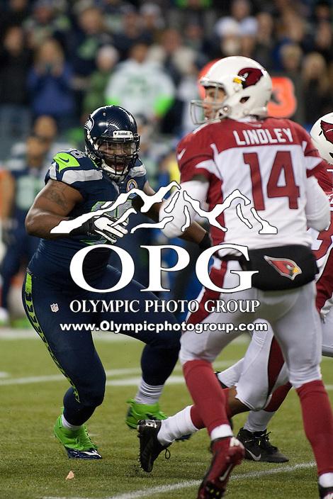 DEC 09, 2012:  Arizona against the Seattle Seahawks Greg Scruggs.  Seattle defeated Arizona 58-0 at CenturyLink Field in Seattle, WA...