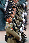 Spainsh soldiers of the Land Army during a military parade marking the Armed Forces Day on June 2, 2012 in Valladolid.(ALTERPHOTOS/Acero)
