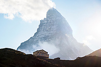 The Schwarzsee Hotel and Matterhorn, Zermatt, Switzerland.