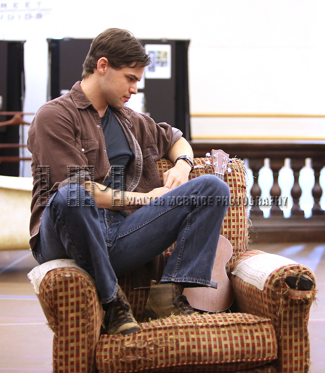 Jeremy Jordan.performing at the 'Bonnie & Clyde' - Media Day Preview on their second day of rehearsals at the New 42nd Street Studios in New York City.