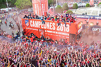 Atletico de Madrid celebrating Europa League Championship