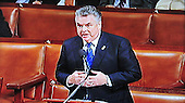 Frame grab from House TV of United States Representative Peter King (Republican of New York) asks the charges against US Representative Charlie Rangel (Democrat of New York) be reduced from a censure to a reprimand on the floor of the US House of Representatives on Thursday, December 2, 2010..Credit: Ron Sachs / CNP..(RESTRICTION: NO New York or New Jersey Newspapers or newspapers within a 75 mile radius of New York City)