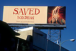 Bob Dylan billboard on the Sunset Strip circa 1980