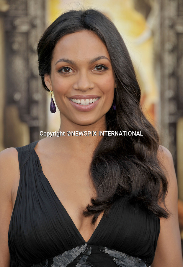 """ROSARIO DAWSON.arrives at the World Premiere of """"Zookeeper"""" at the Regency Village Theatre in Westwood, California. WESTWOOD, Los Angeles, California_06/07/2011.Mandatory Photo Credit: ©Crosby/Newspix International. .**ALL FEES PAYABLE TO: """"NEWSPIX INTERNATIONAL""""**..PHOTO CREDIT MANDATORY!!: NEWSPIX INTERNATIONAL(Failure to credit will incur a surcharge of 100% of reproduction fees).IMMEDIATE CONFIRMATION OF USAGE REQUIRED:.Newspix International, 31 Chinnery Hill, Bishop's Stortford, ENGLAND CM23 3PS.Tel:+441279 324672  ; Fax: +441279656877.Mobile:  0777568 1153.e-mail: info@newspixinternational.co.uk"""