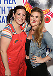 """Amy Toporek and Madeline Fansler attend the Meet the Cast of """"Hit Her WithThe Skates"""" at the Bowlmor Times Square on October 16, 2018 in New York City."""