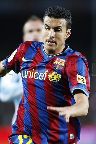 Pedro Rodriguez (Barcelona), FEBRUARY 27, 2010 - Football : Spanish Liga Espanola match between Barcelona and Malaga at Camp Nou stadium in Barcelona, Spain. Photo : Daisuke Nakashima/Actionplus. Editorial Use UK.