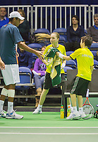 10-02-13, Tennis, Rotterdam, qualification ABNAMROWTT,   Rajeev Ram  gets a towel ftom a ballboy