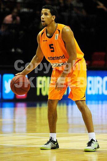 GRONINGEN  Basketbal, Nederland - Israel, Martiniplaza, EK kwalificatie ,  seizoen 2014-2015, 13-08-2014, Leon Wiliams