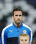 Leicester's Christian Fuchs during the Champions League group B match at the King Power Stadium, Leicester. Picture date November 22nd, 2016 Pic David Klein/Sportimage