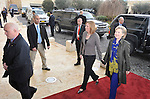 US Secretary of State Hillary Clinton, right, is welcomed by Israel's Foreign Minister Tzipi Livni, as she arrives at the Foreign Ministry in Jerusalem, Israel, on Tuesday, Mar. 30, 2009. Photographer: Ahikam Seri