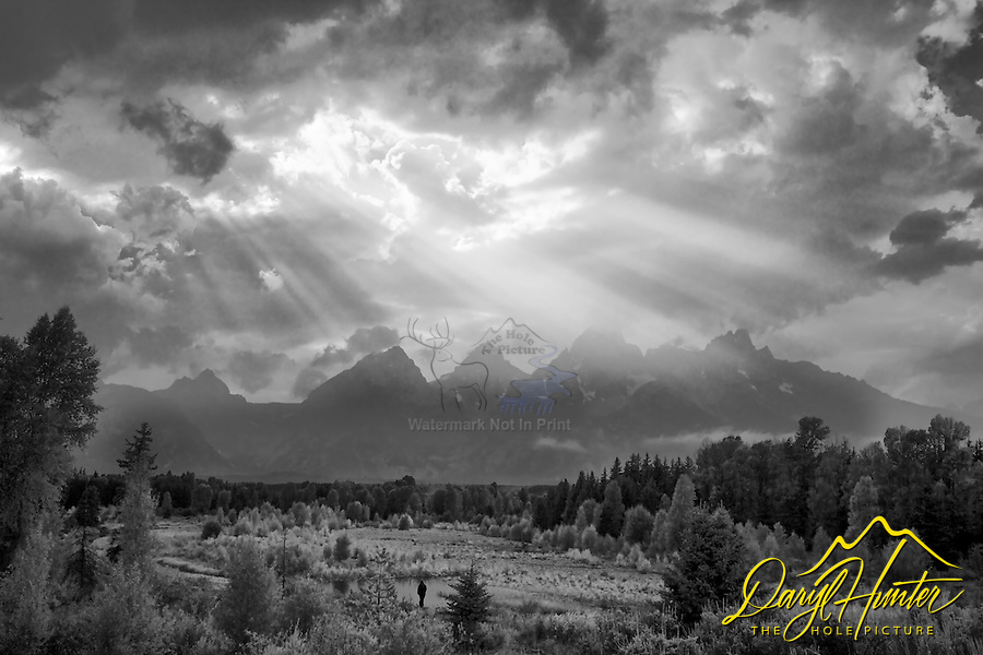 Light beams, Grand Tetons, Grand Teton National Park