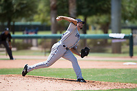AZL Padres 2 relief pitcher Felix Minjarez (41) delivers a pitch during an Arizona League game against the AZL Dodgers at Camelback Ranch on July 4, 2018 in Glendale, Arizona. The AZL Dodgers defeated the AZL Padres 2 9-8. (Zachary Lucy/Four Seam Images)