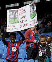 Young Crystal Palace fans seek a photo with Patrick van Aanholt during the EPL - Premier League match between Crystal Palace and West Bromwich Albion at Selhurst Park, London, England on 13 May 2018. Photo by Carlton Myrie / PRiME Media Images.