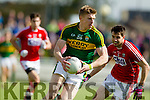 Tommy Walsh Kerry in action against Jamie O Sullivan Cork in the National Football league in Austin Stack Park, Tralee on Sunday.