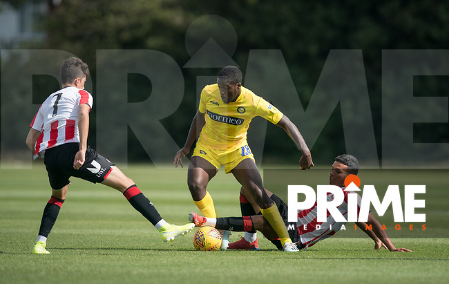 Nnamdi Ofoborh (on loan from Bournemouth) of Wycombe Wanderers during the behind closed doors friendly between Brentford B and Wycombe Wanderers at Brentford Football Club Training Ground & Academy, 100 Jersey Road, TW5 0TP, United Kingdom on 3 September 2019. Photo by Andy Rowland.