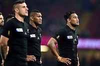 Julian Savea of New Zealand looks on after the match. Rugby World Cup Pool C match between New Zealand and Georgia on October 2, 2015 at the Millennium Stadium in Cardiff, Wales. Photo by: Patrick Khachfe / Onside Images