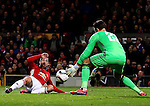 Henrikh Mkhitaryan of Manchester United has a shot saved by Brad Jones of Feyenoord during the UEFA Europa League match at Old Trafford, Manchester. Picture date: November 24th 2016. Pic Matt McNulty/Sportimage