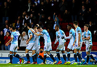 Blackburn Rovers' Darragh Lenihan celebrates scoring his side's second goal with teammates<br /> <br /> Photographer Alex Dodd/CameraSport<br /> <br /> Emirates FA Cup Third Round Replay - Blackburn Rovers v Newcastle United - Tuesday 15th January 2019 - Ewood Park - Blackburn<br />  <br /> World Copyright &copy; 2019 CameraSport. All rights reserved. 43 Linden Ave. Countesthorpe. Leicester. England. LE8 5PG - Tel: +44 (0) 116 277 4147 - admin@camerasport.com - www.camerasport.com