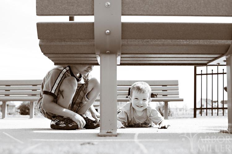 Photographs of the Jensen boys - Davis, 6, and Reid, 2,  taken in south Fargo, N.D., on Sunday, Aug. 8, 2010. Parents are Kirsten and Travis Jensen of Fargo. Photography by Ann Arbor Miller