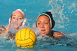 Manhattan Beach, CA 02/09/11 - Sara Booth (Mira Costa #19) and Devon Cohan (Redondo Union #18) in action during the final regular season game at Mira Costa High School, Mira Costa defeated Redondo 12-6 for a Bay League title.
