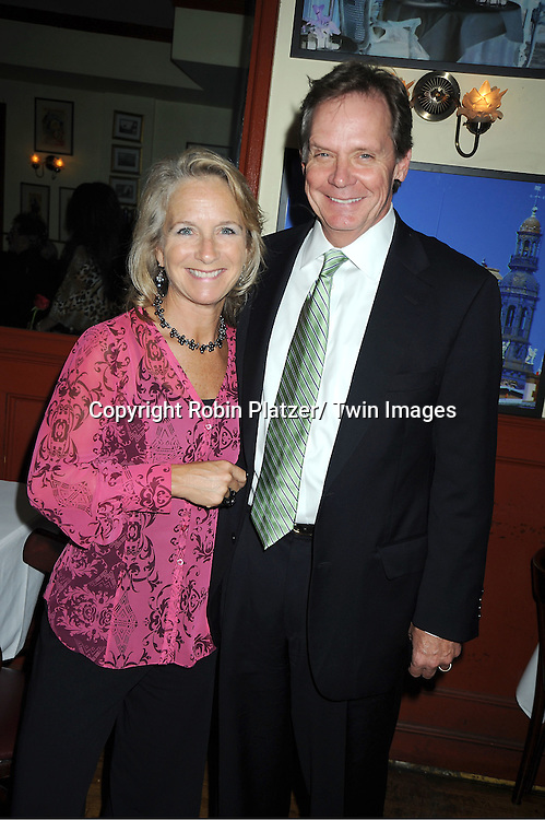 """Director Bud Martin and wife attends the Opening Night party for """"Any Given Monday""""  .on October 12, 2011 at Bistro 60 in New York City. .The show is starring Hillary B Smith and Paul Michael Valley and is at 59E59 Theatre."""