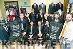 Suit Select, Manor - Rose Escorts L-r  James Finn, Niall Mulrine, John Slowey, Tom Cranley and Josh Featherstone, Back l-r  Eamon Bevine, Evan Kelly, Billy Kiely and Fergal Slattery with David Lynch of Suit Select on Tuesday