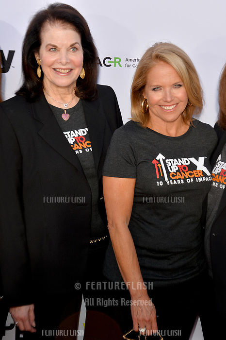 SANTA MONICA, CA. September 07, 2018: Sherry Lansing & Katie Couric at the 2018 Stand Up To Cancer fundraiser at Barker Hangar, Santa Monica Airport.