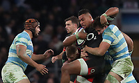 England's Nathan Hughes <br /> <br /> Photographer Rachel Holborn/CameraSport<br /> <br /> International Rugby Union Friendly - Old Mutual Wealth Series Autumn Internationals 2017 - England v Argentina - Saturday 11th November 2017 - Twickenham Stadium - London<br /> <br /> World Copyright &copy; 2017 CameraSport. All rights reserved. 43 Linden Ave. Countesthorpe. Leicester. England. LE8 5PG - Tel: +44 (0) 116 277 4147 - admin@camerasport.com - www.camerasport.com