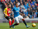 James Tavernier steers the ball past Steven Lawless