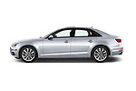 Car driver side profile view of a 2017 Audi A4 Premium 4 Door Sedan