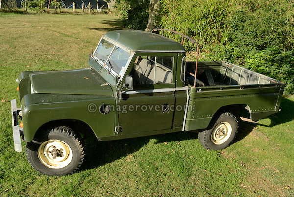 Very rare early 1980s Land Rover Series 3 109 High Capacity Pick-Up in original condition. Seen at the Dunsfold Collection Open Day 2006, Dunsfold, England, UK. --- No releases available. Automotive trademarks are the proper, authorization may be needed for some uses.