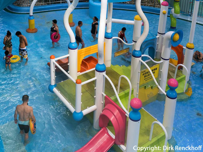 Schwimmhalle Wasserw&uuml;rfel im Olympia-Center, Peking, China, Asien<br /> indoor swimming pol water cube at Olympic Center,  Beijing, China, Asia