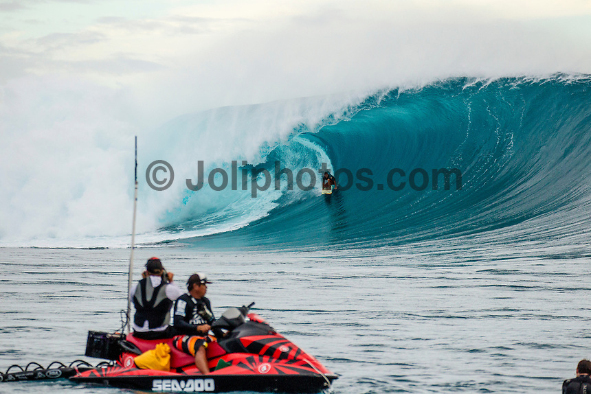 CLOUDBREAK, Namotu Island/Fiji (Friday, June 8, 2012) Jamie Mitchell (AUS). -  The best day of paddle surfing ever seen at Cloudbreak happen today with the swell in the12'-15' range from the south.  The surf pumped all day with amazing performances from of the world best big wave paddle in surfers. The Volcom Fiji Pro completed the last two heats of Round Two with Bede Durbidge and Kai Otten advancing before being call off for the day. Photo: joliphotos.com
