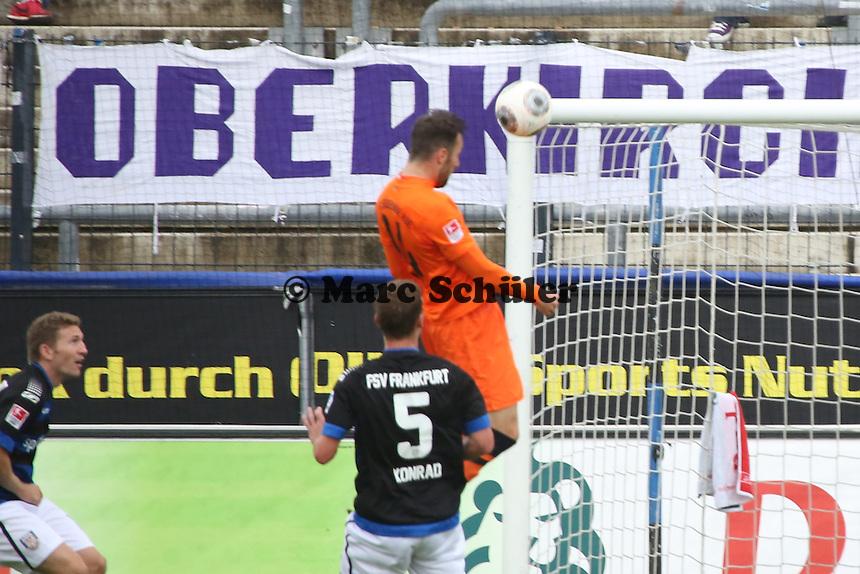 Kopfball Zlatko Janjic (Aue)- FSV Frankfurt vs. FC Erzgebirge Aue, Frankfurter Volksbank Stadion