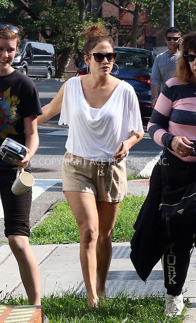 WWW.ACEPIXS.COM<br /> <br /> July 7 2015, New York City<br /> <br /> Actress Jennifer Lopez on the set of the TV show 'Shades of Blue' on July 7 2015 in New York City<br /> <br /> By Line: Zelig Shaul/ACE Pictures<br /> <br /> <br /> ACE Pictures, Inc.<br /> tel: 646 769 0430<br /> Email: info@acepixs.com<br /> www.acepixs.com
