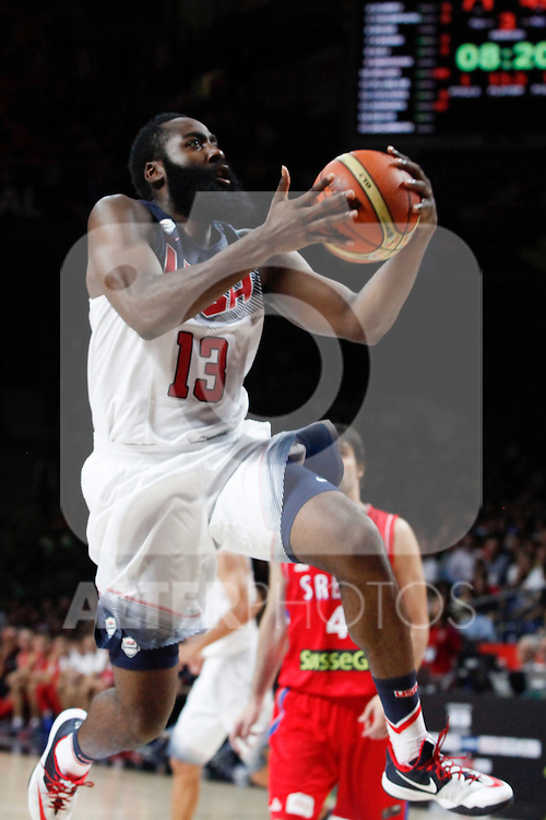 United States´s Harden during FIBA Basketball World Cup Spain 2014 final match between United States and Serbia at `Palacio de los deportes´ stadium in Madrid, Spain. September 14, 2014. (ALTERPHOTOSVictor Blanco)