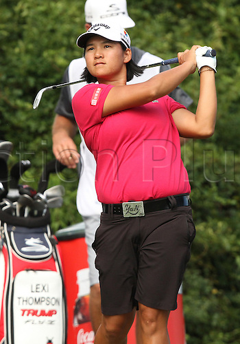 30.08.2015. Prattville, AL, USA.  Yani Tseng of Chinese Taipei tees off at the sixteenth hole during the final round of the Yokohama Tire LPGA Classic at the RTJ Capitol Hill Golf Course in Prattville, AL.