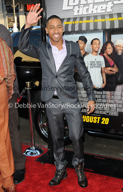 Brandon T. Jackson at the Warner Bros' Pictures World Premiere of Lottery Ticket held at The Grauman's Chinese Theatre in Hollywood, California on August 12,2010                                                                               © 2010 Debbie VanStory / Hollywood Press Agency