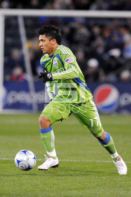 Fredy Montero...Kansas City Wizards were defeated 3-2 by Seattle Sounders at Community America Ballpark, Kansas City, Kansas.