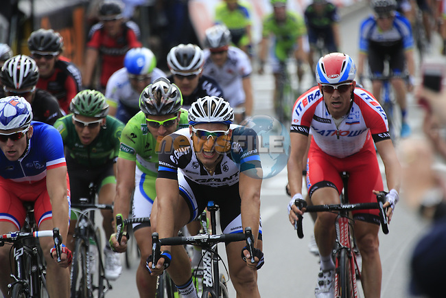 Marcel Kittel (GER) Team Giant-Shimano outsprints the pack to win Stage 4 of the 2014 Tour de France running 163.5km from Le Touquet to Lille. 8th July 2014.<br /> Picture: Eoin Clarke www.newsfile.ie