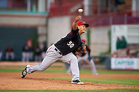 Richmond Flying Squirrels pitcher Pedro Rodriguez (50) delivers a pitch during a game against the Erie Seawolves on May 19, 2015 at Jerry Uht Park in Erie, Pennsylvania.  Richmond defeated Erie 8-5.  (Mike Janes/Four Seam Images)