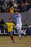 Argentina soccer player Lucas Biglia fights for the ball during a friendly match between Argentina and Ecuador in New Jersey. 03.31.2015. Kena Betancur / VIEWpress.
